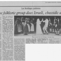 ''Québec folkloric group does Israeli chassidic dance''